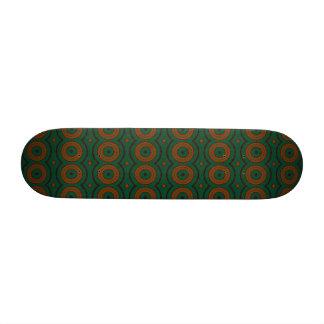 Warm autumn colors floral ethnic green and orange custom skateboard