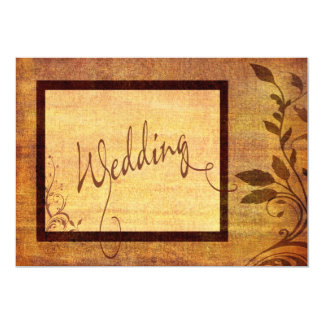 Warm Autumn Romance Affordable Wedding 5 x 7 Card
