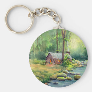 WARM CABIN by SHARON SHARPE Keychain