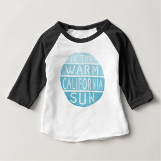 Warm California Sun Vintage Typography Blue Baby T-Shirt