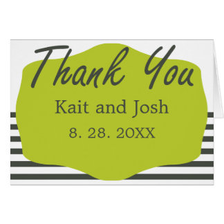 Warm Charcoal Green Elegant Minimalist Thank You Card