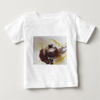 Warm chocolate fondant lava cake dessert baby T-Shirt