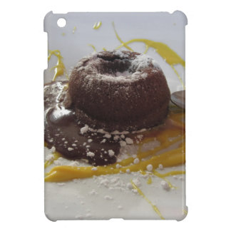 Warm chocolate fondant lava cake dessert iPad mini cover
