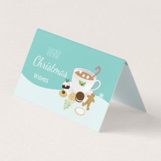 Warm Christmas wishes cookies and hot chocolate Card