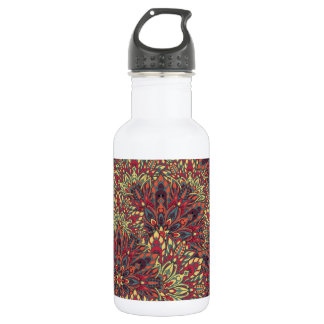 Warm color mandala pattern. 532 ml water bottle