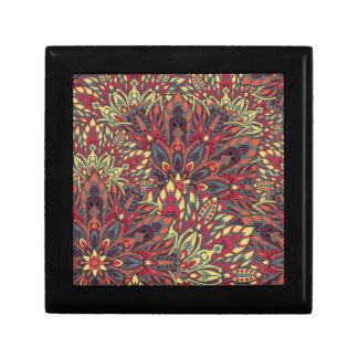Warm color mandala pattern. gift box