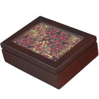 Warm color mandala pattern. keepsake box