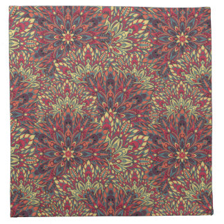 Warm color mandala pattern. napkin