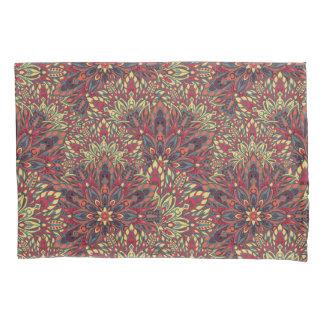Warm color mandala pattern. pillowcase
