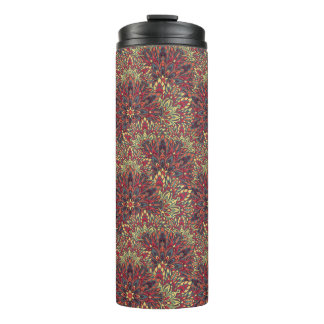 Warm color mandala pattern. thermal tumbler