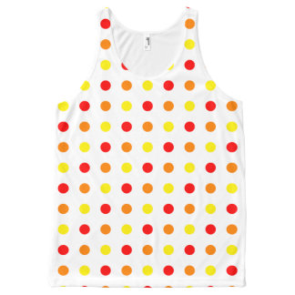 Warm Color Polka Dots Tank Top