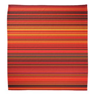 Warm Color - Trendy Style - Stripe Pattern Bandana