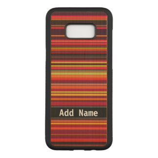 Warm Color - Trendy Style - Stripe Pattern Carved Samsung Galaxy S8+ Case