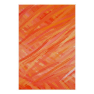 Warm Colors Abstract Art Painting 2 Poster