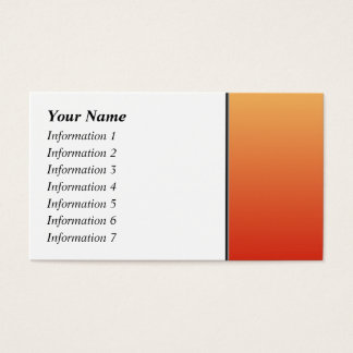 Warm colors, plain design. business card