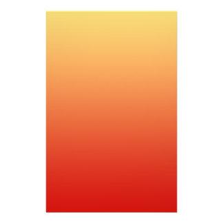 Warm colors, plain design. personalized flyer
