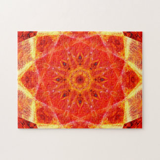 Warm Colors | Star Shapes | Relaxing Mandala Jigsaw Puzzle