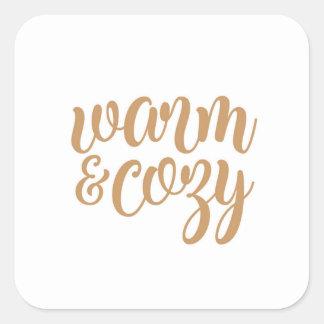 Warm & Cozy Square Sticker