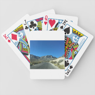 Warm desert days bicycle playing cards