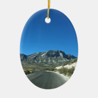 Warm desert days ceramic ornament