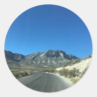 Warm desert days classic round sticker
