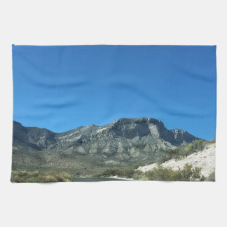 Warm desert days kitchen towel