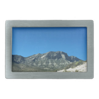 Warm desert days rectangular belt buckle