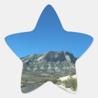 Warm desert days star sticker