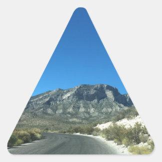 Warm desert days triangle sticker