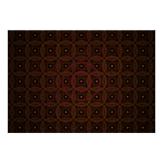 Warm Dots and Rings Background Fractal Print