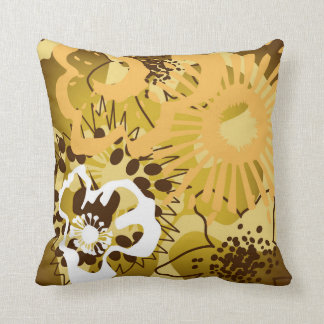 Warm Earth Tones Reversible Throw Pillow