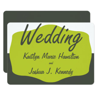 Warm Elegant Charcoal Bracket Minimalist Wedding Card