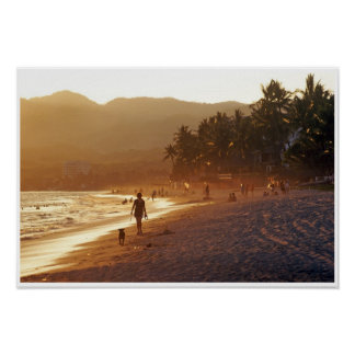 Warm Evening Colors on Bucerias Beach Mexico Poster