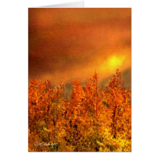 Warm Fall Day Thanksgiving Card