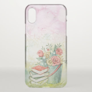 Warm Flowers & Books iPhone X Case