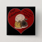 Warm, Fuzzy Feeling! Heart 2 Inch Square Button