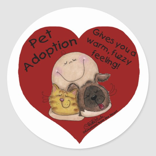 Warm, Fuzzy Feeling! Heart Classic Round Sticker