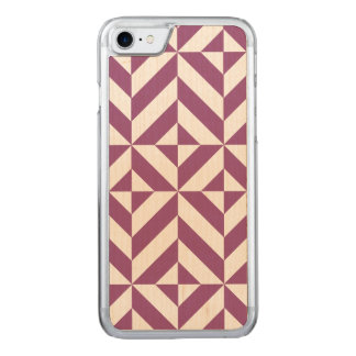 Warm Grape Geometric Deco Cube Pattern Carved iPhone 8/7 Case