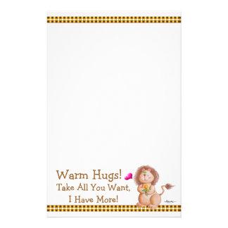 Warm Hugs! Stationery