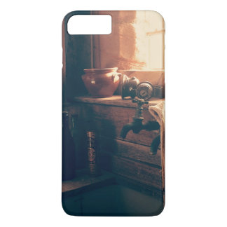 Warm light in a rustic kitchen iPhone 7 plus case