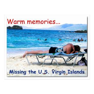 Warm memories note card postcard