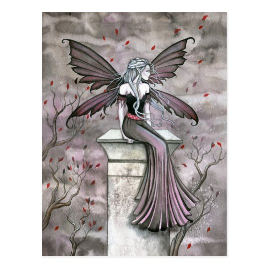 Warm Midnight Gothic Fairy Postcard