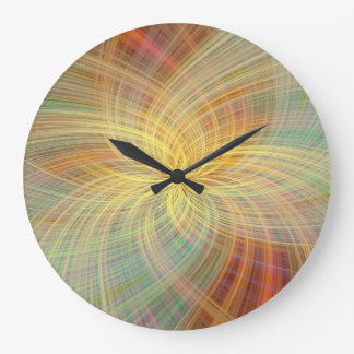 Warm multicolored abstract. Concept Positive Creat Large Clock