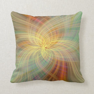 Warm multicolored abstract. Concept Positive Creat Throw Pillow