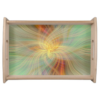Warm multicolored abstract. Concept Serving Tray