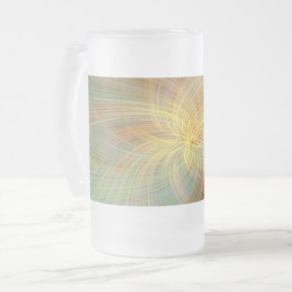 Warm multicolored abstract frosted glass beer mug