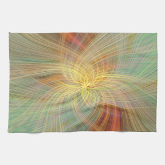 Warm multicolored abstract. kitchen towel