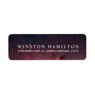 Warm Nebula | Personalized Return Address