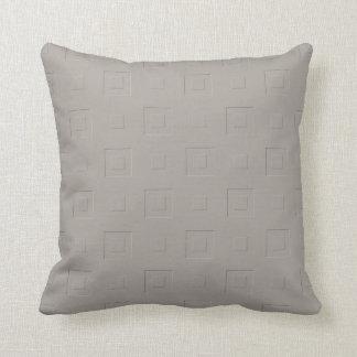 Warm Orange Checkered Throw Pillow