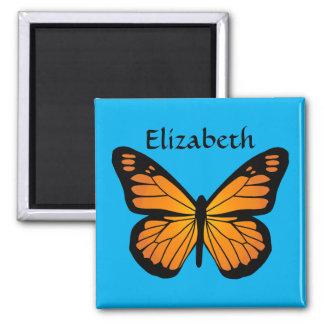 Warm Orange Glow Butterfly Magnet